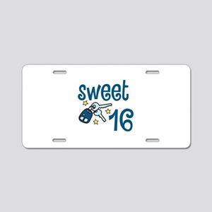 Sweet 16 Aluminum License Plate