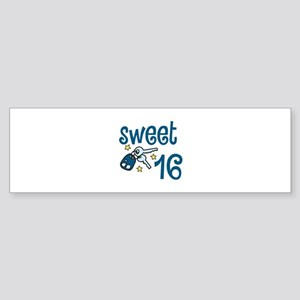 Sweet 16 Bumper Sticker