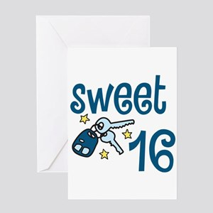 Sweet sixteen greeting cards cafepress sweet 16 greeting cards m4hsunfo