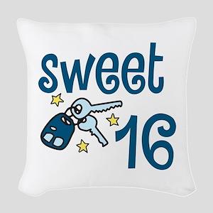Sweet 16 Woven Throw Pillow