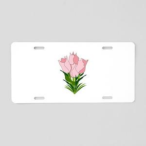 Tulip Bouquet Aluminum License Plate