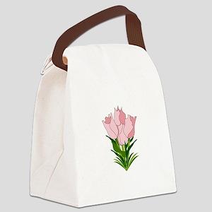 Tulip Bouquet Canvas Lunch Bag