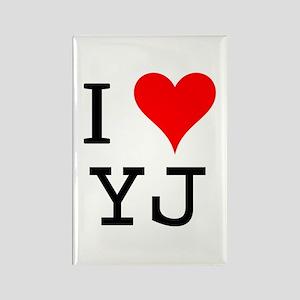 I Love YJ Rectangle Magnet