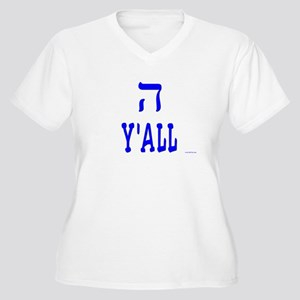 Hey Y'all Hebrew Women's Plus Size V-Neck T-Shirt
