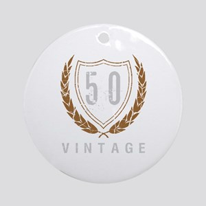 50th Birthday Laurels Ornament (Round)