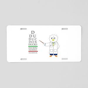 Eye Exam Aluminum License Plate
