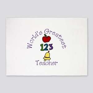 Worlds Greatest Teacher 5'x7'Area Rug