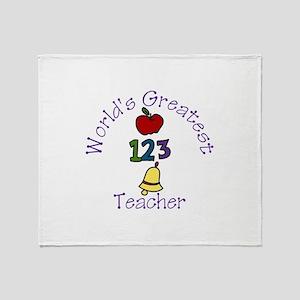 Worlds Greatest Teacher Throw Blanket