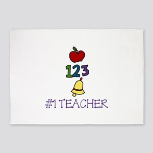 #1 TEACHER 5'x7'Area Rug