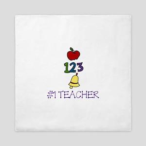 #1 TEACHER Queen Duvet