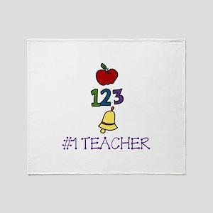 #1 TEACHER Throw Blanket