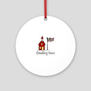 Elementary School Ornament (Round)
