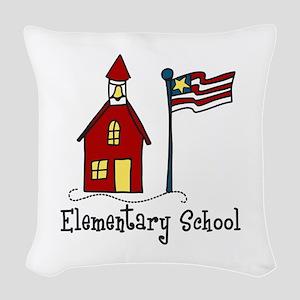 Elementary School Woven Throw Pillow