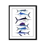 6 Billfish Framed Panel Print