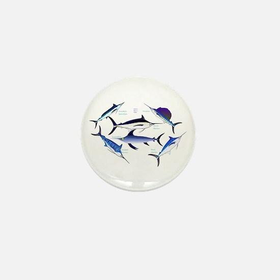 6 Billfish Mini Button