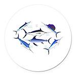6 Billfish Round Car Magnet