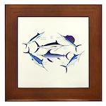 6 Billfish Framed Tile