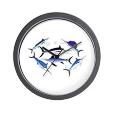6 Billfish Wall Clock