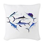 6 Billfish Woven Throw Pillow