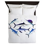 6 Billfish Queen Duvet