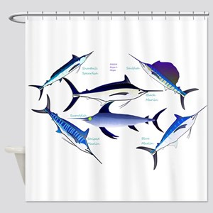 6 Billfish Shower Curtain