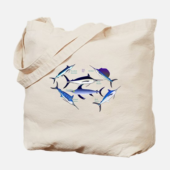6 Billfish C Tote Bag