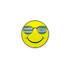 smiley with celtic shades Mini Button (10 pack)