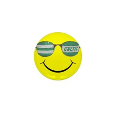 smiley with celtic shades Mini Button