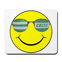 smiley with celtic shades Mousepad