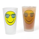 smiley with celtic shades Drinking Glass