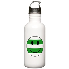 smiley hoops Sports Water Bottle
