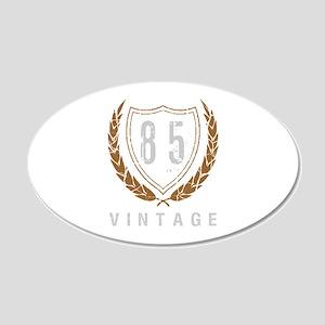 85th Birthday Laurels 20x12 Oval Wall Decal