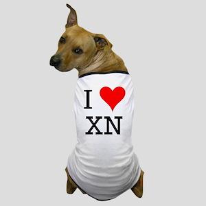 I Love XN Dog T-Shirt