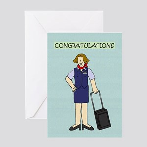 Congratulations to flight attendant Greeting Cards