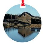 Barn Reflection Round Ornament