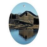 Barn Reflection Ornament (Oval)