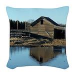 Barn Reflection Woven Throw Pillow