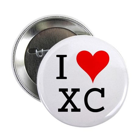 "I Love XC 2.25"" Button (100 pack)"