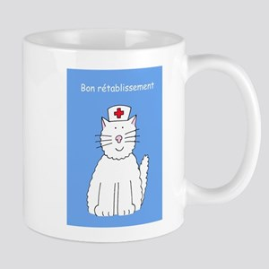 Get Well soon in French. Mugs