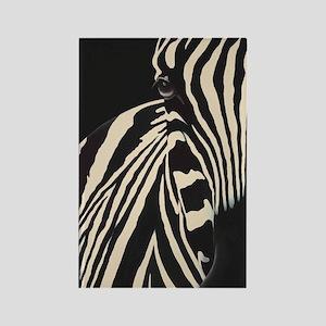 Creamy Beige Zebra Rectangle Magnet