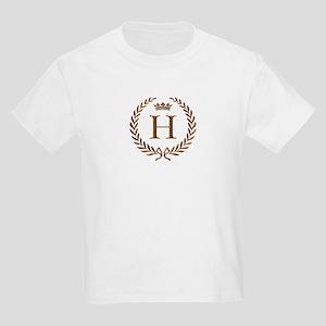 Napoleon initial letter H monogram Kids T-Shirt