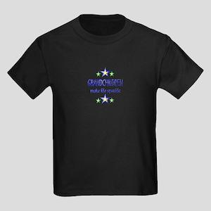 Grandchildren Sparkle Kids Dark T-Shirt