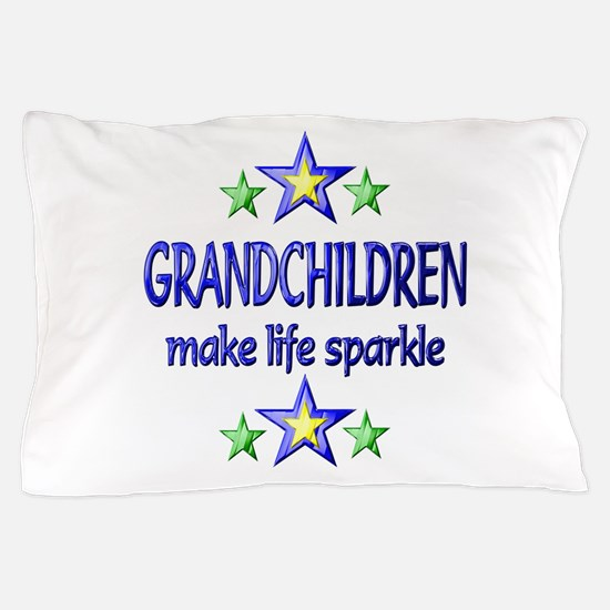 Grandchildren Sparkle Pillow Case