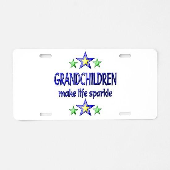 Grandchildren Sparkle Aluminum License Plate