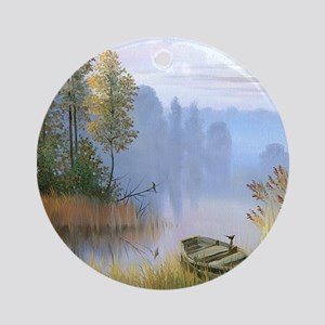 Lake Painting Ornament (Round)