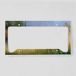 Lake Painting License Plate Holder