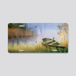 Lake Painting Aluminum License Plate