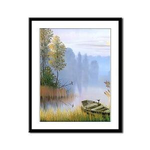 Lake Painting Framed Panel Print