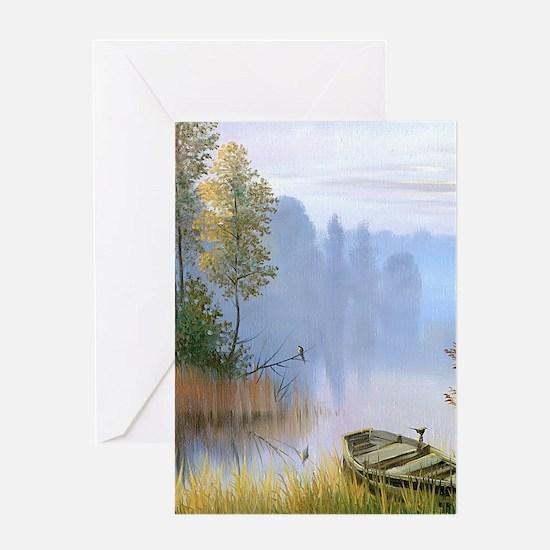Lake Painting Greeting Cards