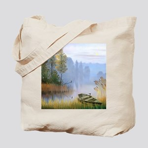 Lake Painting Tote Bag